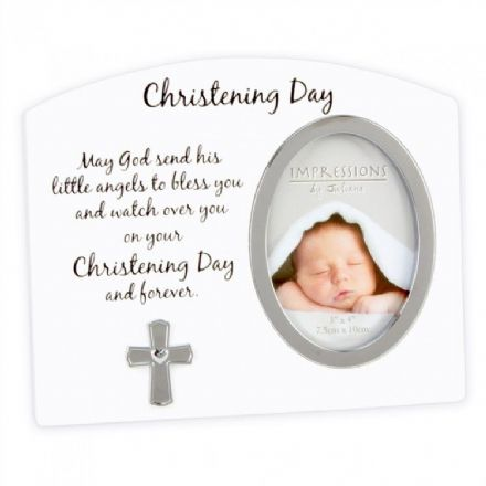 Christening Prayer Picture Frame